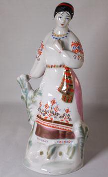 schöne Porzellan Figur - Frau von Polonskiy
