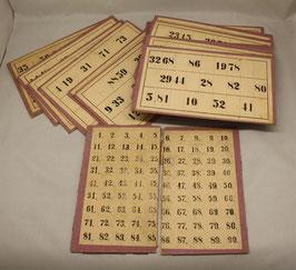 antike / alte Bingo Karten / Lotto/ Tombola