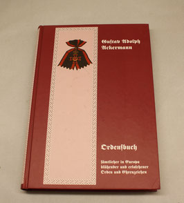 Ordensbuch, Gustav Rudolph Ackermann, Reprint von 1855