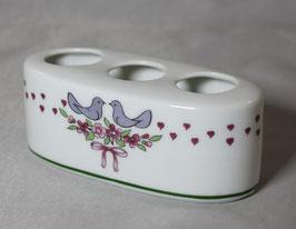 Zahnbürsten- halter aus Porzellan