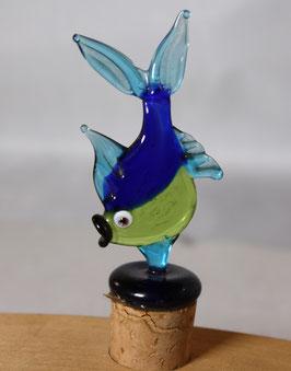 Flaschenverschluss Fisch aus Glas