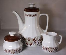 Vintage Kaffeekanne, Milchkanne und Zuckerdose
