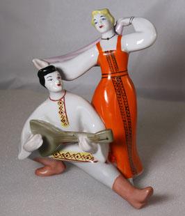 Porzellan Figur - Musizierendes Paar von Polonne