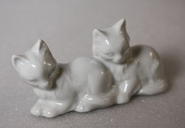 Porzellan Katzenpaar von Wagner & Apel
