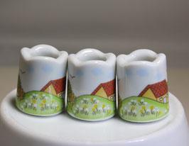 3 Stück Mini Kerzenhalter / Zahnstocher Behälter