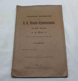 14. Jahresbericht des k.k. Staats-Gymnasiums von 1913/14