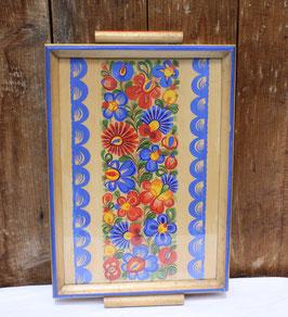 Holz Tablett mit Glas