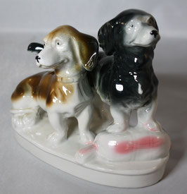 Porzellan Hunde / Dackel Wagner & Apel