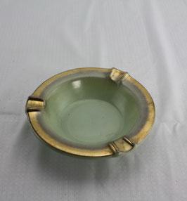 Keramik Ascher, Aschenbecher mit Goldschleier Rand