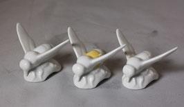 3 Stück Porzellanbienen von Rudolf Kämmer