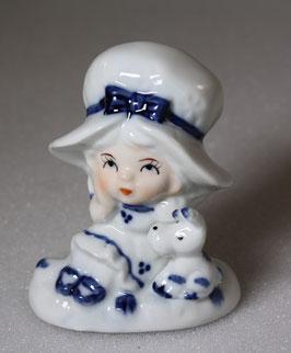 Porzellanfigur Mädchen mit Hund