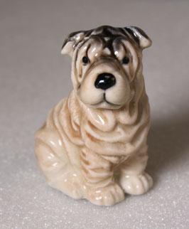 Schöner Porzellan Faltenhund / Shar Pei