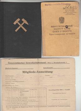 Häuerschein, Hauerschein und Identitätsausweis von 1951 und 1947