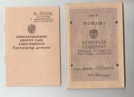 alter Reisepass und Identitätsausweis von 1954
