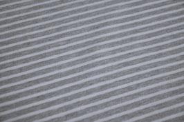 Jersey Melange Streifen groß hellgrau