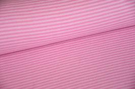 Bündchen gestreift rosa