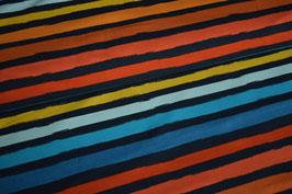 French Terry Stripes, blau