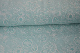 "French Terry ""Lace"" mint"