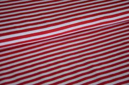 Baumwolljersey Streifen rot/weiß groß