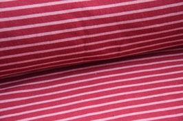 Kuschelsweat Streifen weinrot