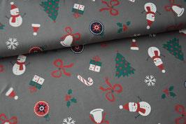 Baumwolljersey Glitter Christmas