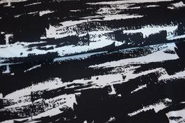 Sommersweat GRUNGY schwarz, Rest 0,6m