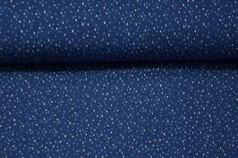 Baumwolljersey Spots dunkelblau