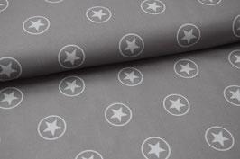 Softshell Sterne im Kreis grau