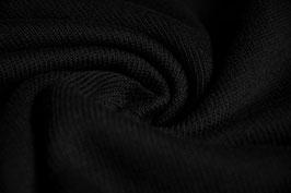 Feinstrick uni schwarz