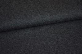 Baumwolljersey dunkelgrau meliert