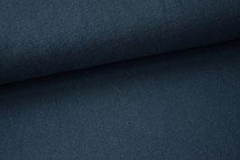 Strickjersey, blau meliert
