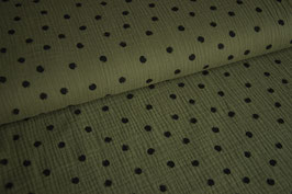 Musselin Dots, khaki