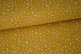 Baumwolljersey Punkte yellow