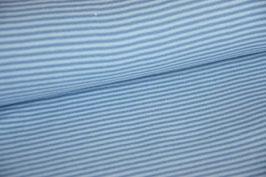 Bündchen gestreift blau