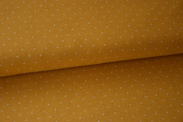 Baumwolljersey Mini Dots, gelb