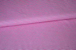 Baumwolljersey Streifen pink/weiß