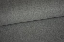 Baumwollfleece, hellgrau, Rest 0,9m