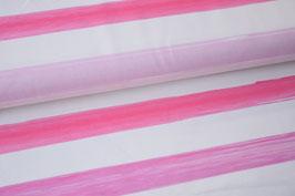 Sommersweat Streifen pink