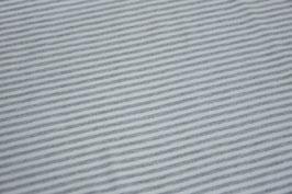Jersey Melange Streifen klein hellgrau
