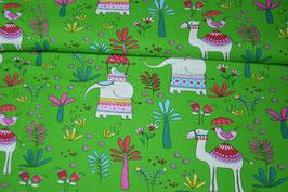 Baumwolljersey Elefant & Kamel
