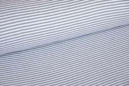 Bündchen gestreift grau