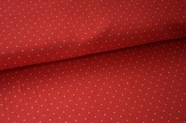 Baumwolljersey Mini Dots, rot