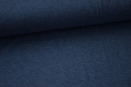 Baumwolljersey jeansblau meliert