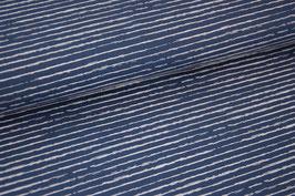 Baumwolljersey Streifen blue