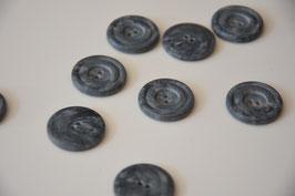 1 Stück 2-Loch-Knopf, grau, 23mm