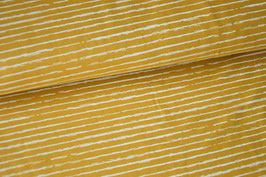 Baumwolljersey Streifen yellow