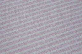 Jersey Melange Streifen groß rosa