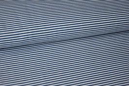 Baumwolljersey Streifen blau/weiß klein