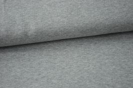 Strickjersey, grau meliert