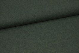 Baumwolljersey waldgrün meliert